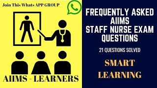 Frequently Asked AIIMS Staff Nurse Exam Questions