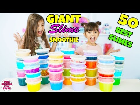GIANT Slime Smoothie MIXING 50 DIFFERENT SLIMES!
