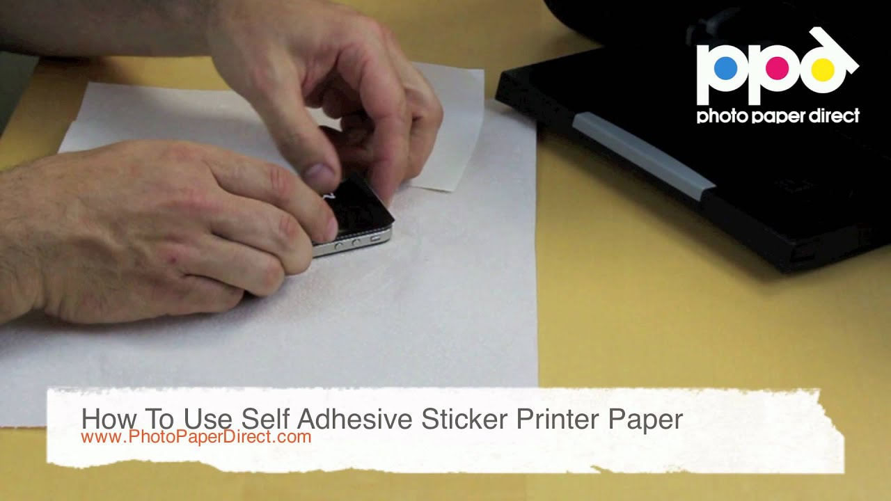 How To Use Self Adhesive Sticker Printer Paper Youtube