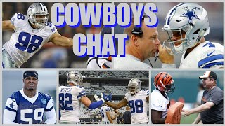 COWBOYS CHAT: Scott Linehan Speaks; Crawford DT or DE? Dez To GB? More O-Line Coaching Help, & More!