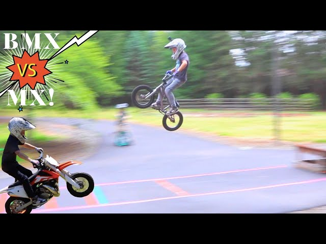 BMX vs MX Long Jump Challenge!!!