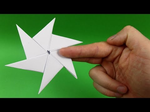 How To Make a Paper Ninja Star Shuriken - Origami Shuriken