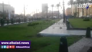 أعمدة الإنارة بالتحرير تعرض حياة المارة للخطر ..فيديو