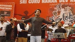 NINJA doing Bhangra at Khalsa College Delhi Ft. Goldboy , Pardeep Sran & Umang Sharma.
