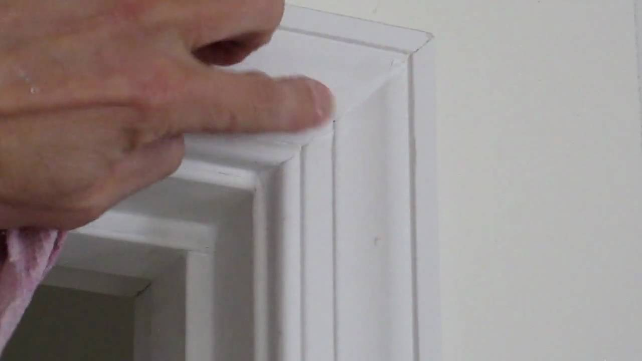 How To Caulking Miters On Door Casings Youtube