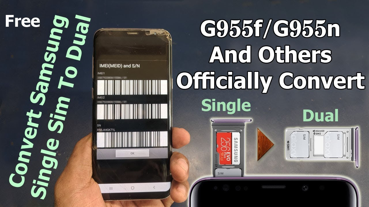 Sm-g955f Official Samsung To Sim Single Convert g955n Dual