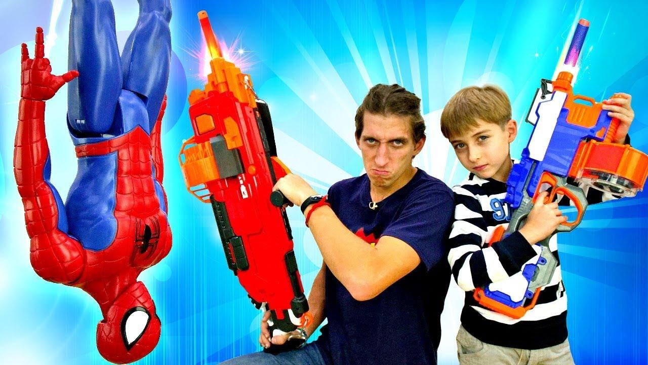 Человек Паук и игры для мальчиков - Танос портит челлендж ...