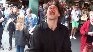 Pike Place Market in Seattle Pianist going crazy