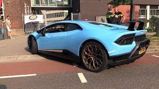 Baby Blue Lamborghini Huracán Performante - Start, Revs, Acceleration!