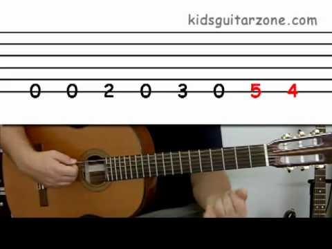 guitar lesson 2c beginner 39 the peter gunn theme 39 on one string guitar fan. Black Bedroom Furniture Sets. Home Design Ideas
