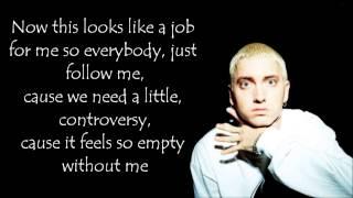 Eminem - Without me (lyrics on screen)