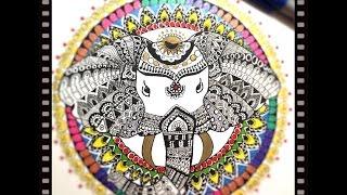 How to draw ELEPHANT HEAD MANDALA