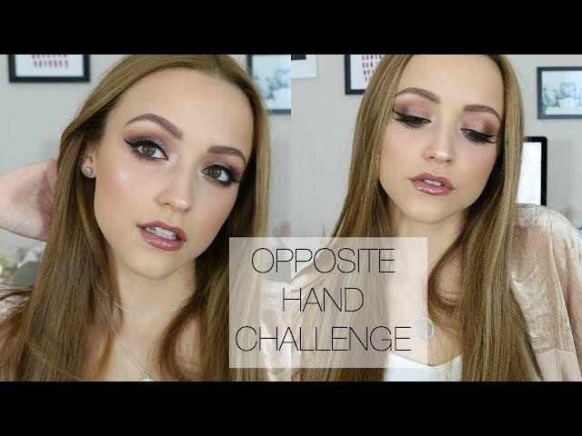 Full Glam Makeup Look Using MY RIGHT HAND | Opposite Hand Challenge