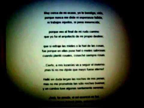 """Poema """"En paz"""", Amado Nervo."""