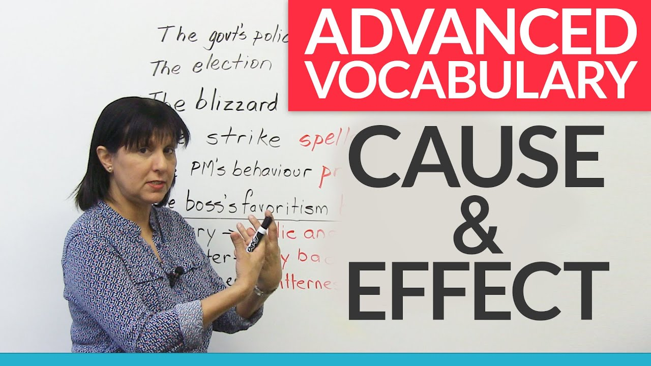 advanced vocabulary of cause effect youtube