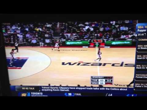Wale gets upset at the Toronto raptors announcers