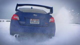 Дрифт зимой НА МЕХАНИКЕ в США, тест-драйв Impreza STI 2015, застряли в лесу