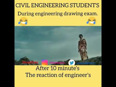CIVIL ENGINEER'S During engineering drawing exam || Majhi Movie Dialogue || funny Memes.