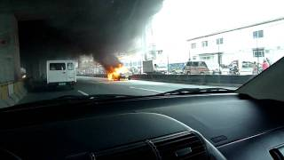 corolla burning at slex July 16, 2010....5pm