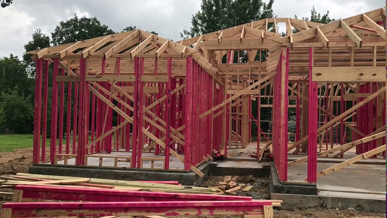 Framing new investment property house in Houston Texas - YouTube