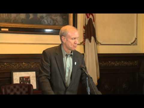 Illinois Gov. Bruce Rauner announces executive order eliminating compulsory union dues