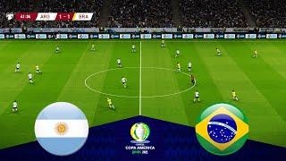 ARGENTINA vs BRAZIL - FINAL COPA AMERICA 2021 - Full Match All Goals HD