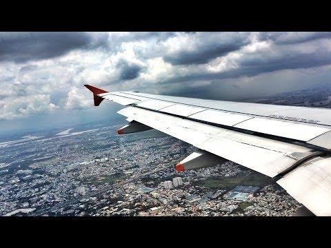 Jetstar Pacific A320 SCENIC Landing in Ho Chi Minh City, Vietnam