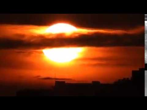 INCREDIBLE FOOTAGE! SUN IN THE CLOUDS NOT SPACE