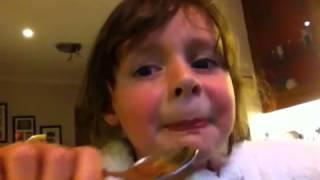 My sister doing the cinnamon challenge