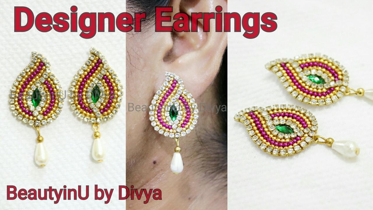 How to make Designer Earrings Paper Earrings DIY Paper