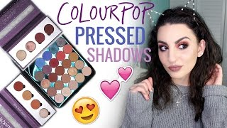 New Colourpop Pressed Shadows! Swatches & Tutorial