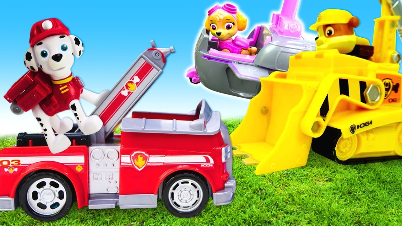 Paw Patrol toys & Paw Patrol videos for kids - Paw Patrol Skye, Rubble, Chase and Marshall