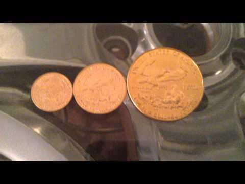 American Gold Eagle Size Comparison