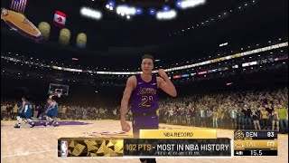 Breaking Wilt Chamberlain's 100 Points In A Single Game NBA 2K19 My Career