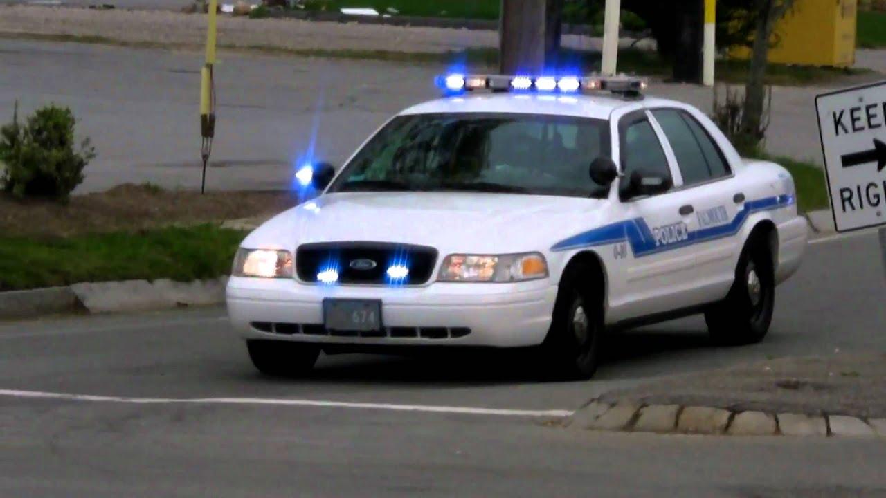Slicktop Police Car At Traffic Stop Falmouth Police