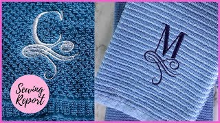 DIY Monogram Towels 2 Easy Ways ✂️ Brother PE800 Embroidery Machine | SEWING REPORT