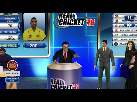 ( Part 1 ) A to Z Auction Gameplay Real Cricket 18 aNdroid / IOS Gameplay