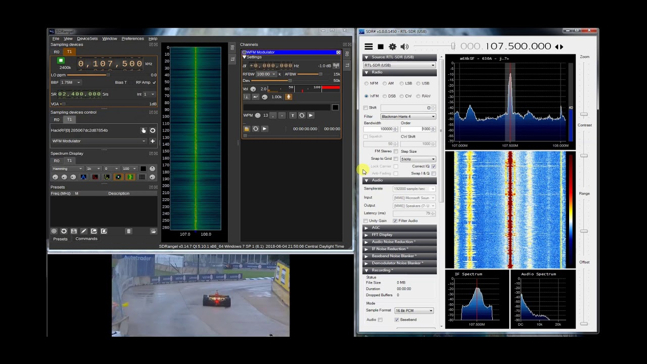 Pirate Radio FM Broadcast wtih HackRF One and Windows SDR