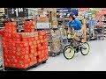 CRAZY BIKE CRASH IN WALMART