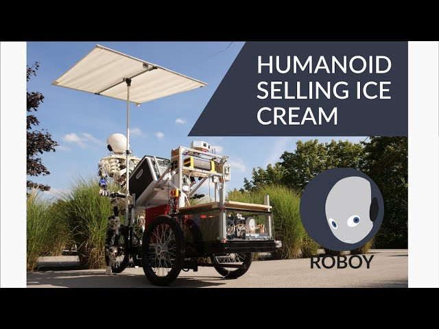 Humanoid Robot Selling Ice Cream - Roboy Final Presentations Summer Semester 2019