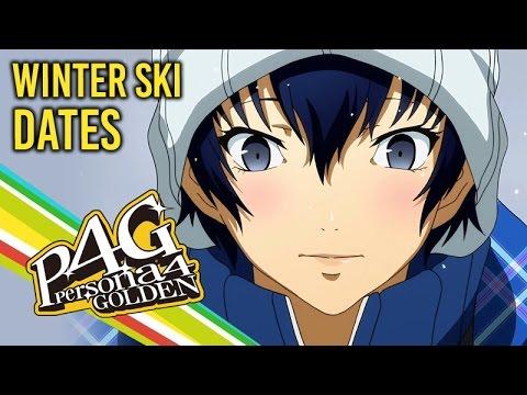 Persona 4 Golden ★ All Winter Ski Date Cutscenes
