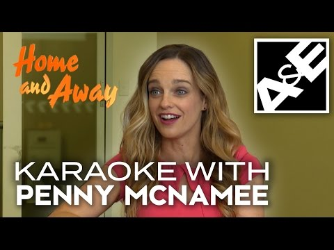 Penny McNamee from Home and Away plays Karaoke