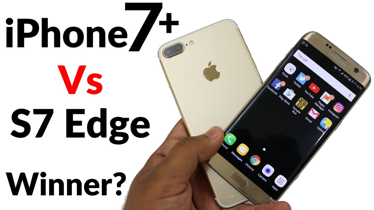 Iphone 7 Plus Vs Samsung Galaxy S7 Edge Speed Test Ft Nokia 3310 Youtube