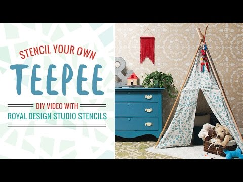 & How to Stencil a Teepee Tent Tutorial - DIY Kids Crafts Idea - YouTube