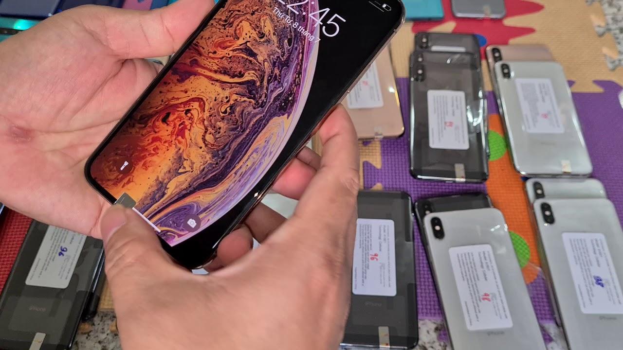 """9 tháng 7 - 2020 , Giá """"iphone Xs Max 64gb"""" Quốc tế Mỹ , Chuẩn theo từng % Pin , Iphone cũ giá rẻ"""