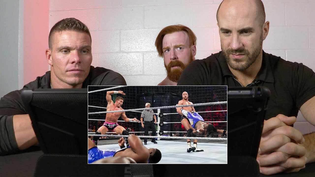 Tyson Kidd & Cesaro rewatch the first-ever Tag Team Title Elimination Chamber Match: WWE Playbac