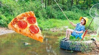 Kiều Anh Đi Câu Cá Bằng Pizza ❤ Học Cách Nướng Cá - Trang Vlog