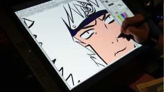 Drawing Kiba Inuzuka On The Wacom Cintiq 21ux