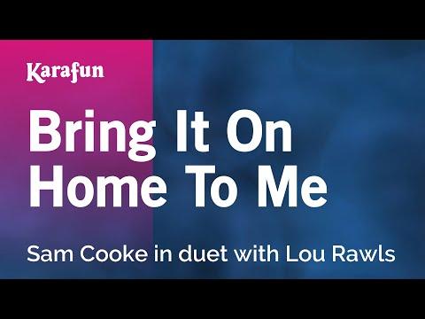 Karaoke Bring It On Home To Me - Sam Cooke *