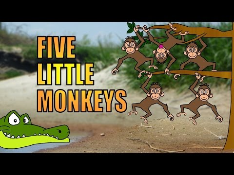 Five little monkeys (sitting in a tree) | Nursery rhymes